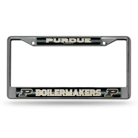 Purdue Boilermakers NCAA Bling Glitter Chrome License Plate Frame