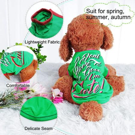 Dog T Shirt Puppy Small Pet Sweatshirt Tops Clothes Apparel Vest Costume #1, M - image 4 of 7