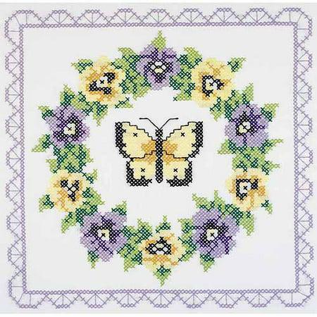 Janlynn Stamped Cross-Stitch Quilt Blocks, 6pk, 18
