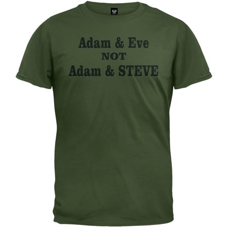 Adam and Eve Not Adam and Steve T-Shirt (Adam And Eve Adults)