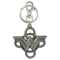 Metal Key Chain - DC Comics  - Wonder Woman Logo with Lasso Pewter 45746