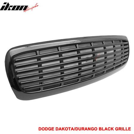 Fits 97-03 Dodge Dakota Durango ABS Black Hood Grill Grille 2003 Dodge Durango Grille