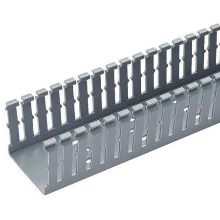 Wire Duct,Narrow Slot,Gray,1.26 W x 1 D PANDUIT F1X1LG6