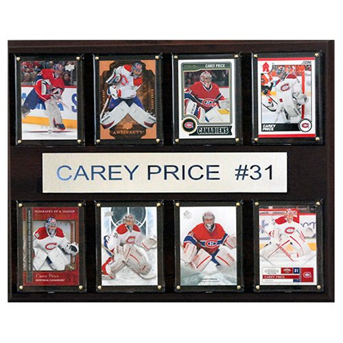 C and I Collectables NHL 15W x 12H in. Carey Price Montreal Canadiens 8 Card Plaque