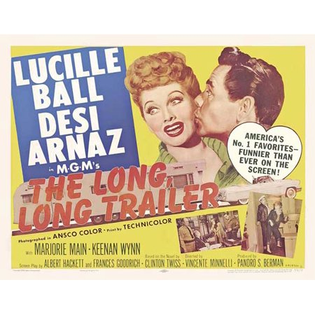 The Long Long Trailer (1954) 30x40 Movie Poster (UK) for $<!---->
