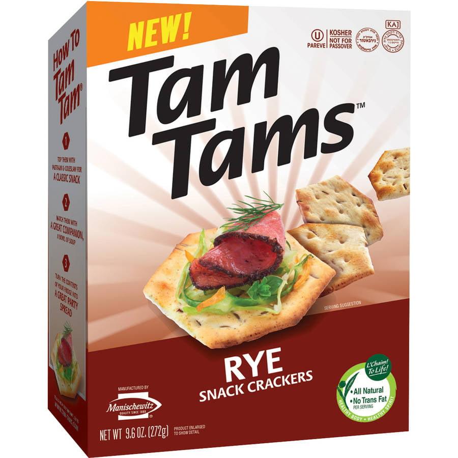 Tam Tams Rye Snack Crackers, 9.6 oz