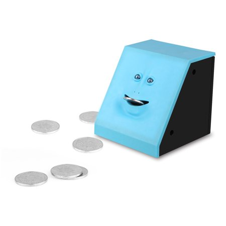 Creative Funny Face Bank Sensor Eating Coin Money Box Automatic Saving Storage For Kids  Friend Gifts