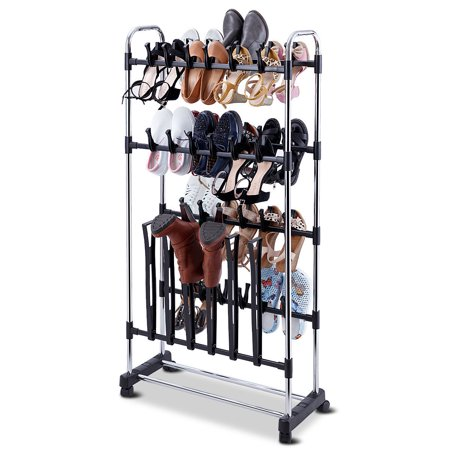 36 Pairs Clip On Shoe&Boot Rack Adjustable Storage Shelf Holder Space - image 10 of 10