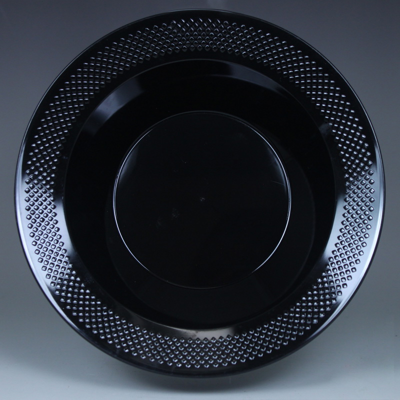Maryland Plastics Concord PKG-CC12111 12 oz.  Soup-Salad Plastic Bowl - Black 15 Ct. , Pack Of 4