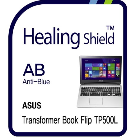 Healingshield Screen Protector Eye Protection Anti UV Blue Ray Film for Asus Laptop Transformer Book Flip TP500L (Computer Screen Uv Blocker)