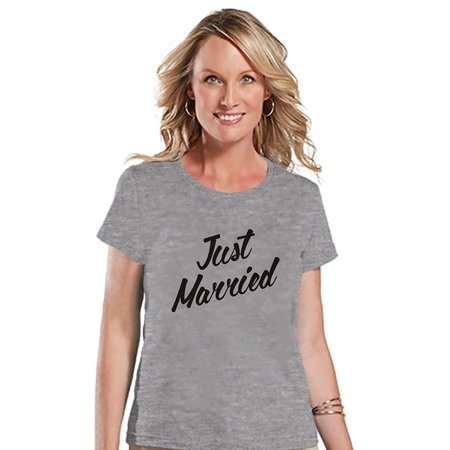 Bride Tshirts (7 ate 9 Apparel Women's Just Married Bride T-shirt -)