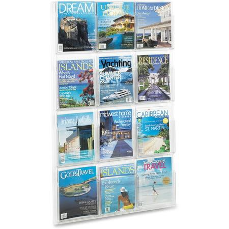 Safco, SAF5602CL, 12 Pocket Magazine Display, 1 Each, Clear