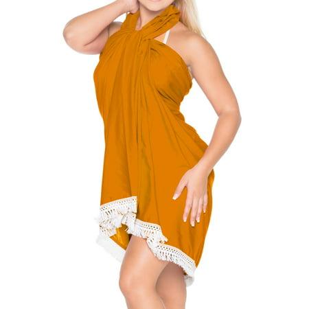 104ad55413 LA LEELA - Sarong Wrap Beachwear Bathing Suit Swimwear Swimsuit ...