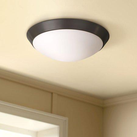 360 Lighting Modern Ceiling Light Flush Mount Fixture Oil Rubbed Bronze 11