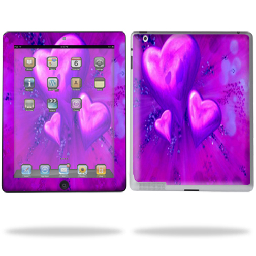 Mightyskins Protective Vinyl Skin Decal Cover for Apple iPad 2 2nd Gen or iPad 3 3rd Gen Tablet E-Reader wrap sticker skins - Purple Heart