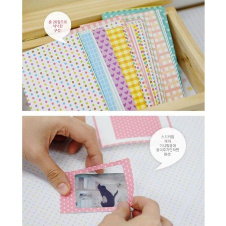200PCS Pastel Color Instant Films Sticker For FujiFilm Instax Mini 8 7s 25 (Difference Between Fujifilm Mini 7s And 8)