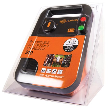 - Solar Fence Charger, S10, 0.1 Joules