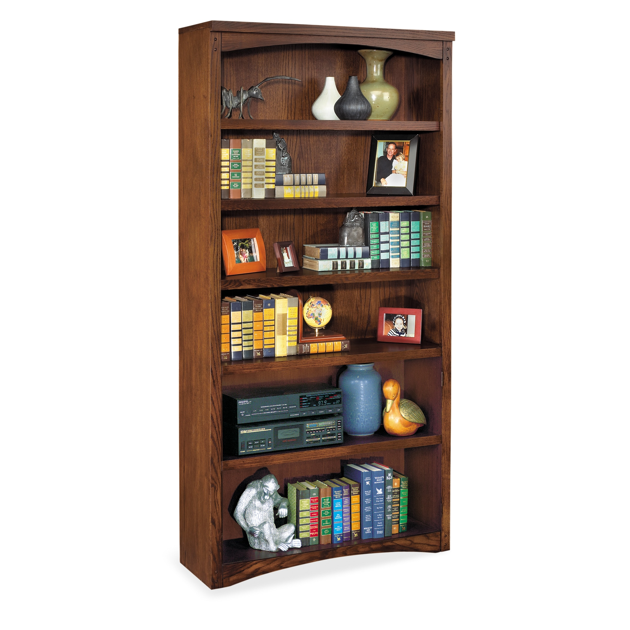 Martin Furniture Mission Park Brown Wood Open Bookcase