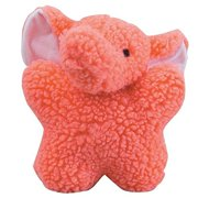 Dog Toys Soft Berber Babies Squeaker Toy for Dogs - Choose Animal Character (Pink Elephant)
