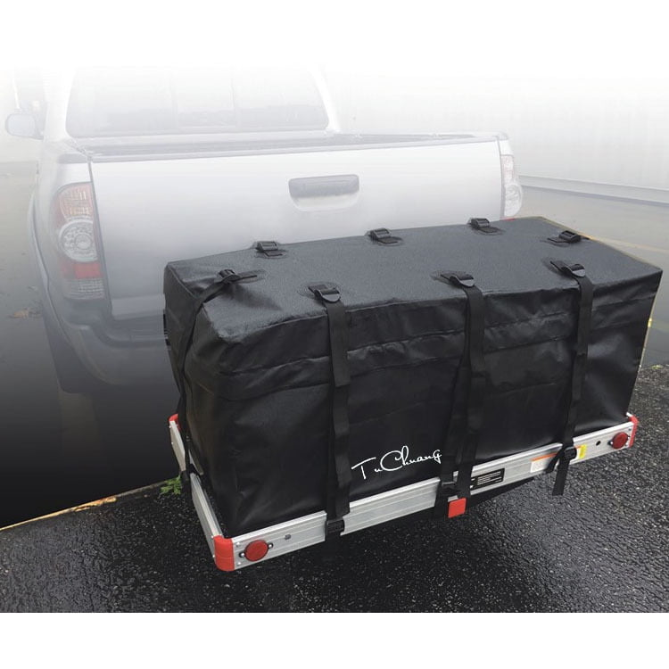 Car SUV Roof Top Cargo Carrier Bag Luggage Storage Travel Waterproof  Black