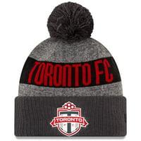Toronto FC New Era 2019 On-Field Cuffed Knit Hat with Pom - Heathered Gray/Charcoal - OSFA