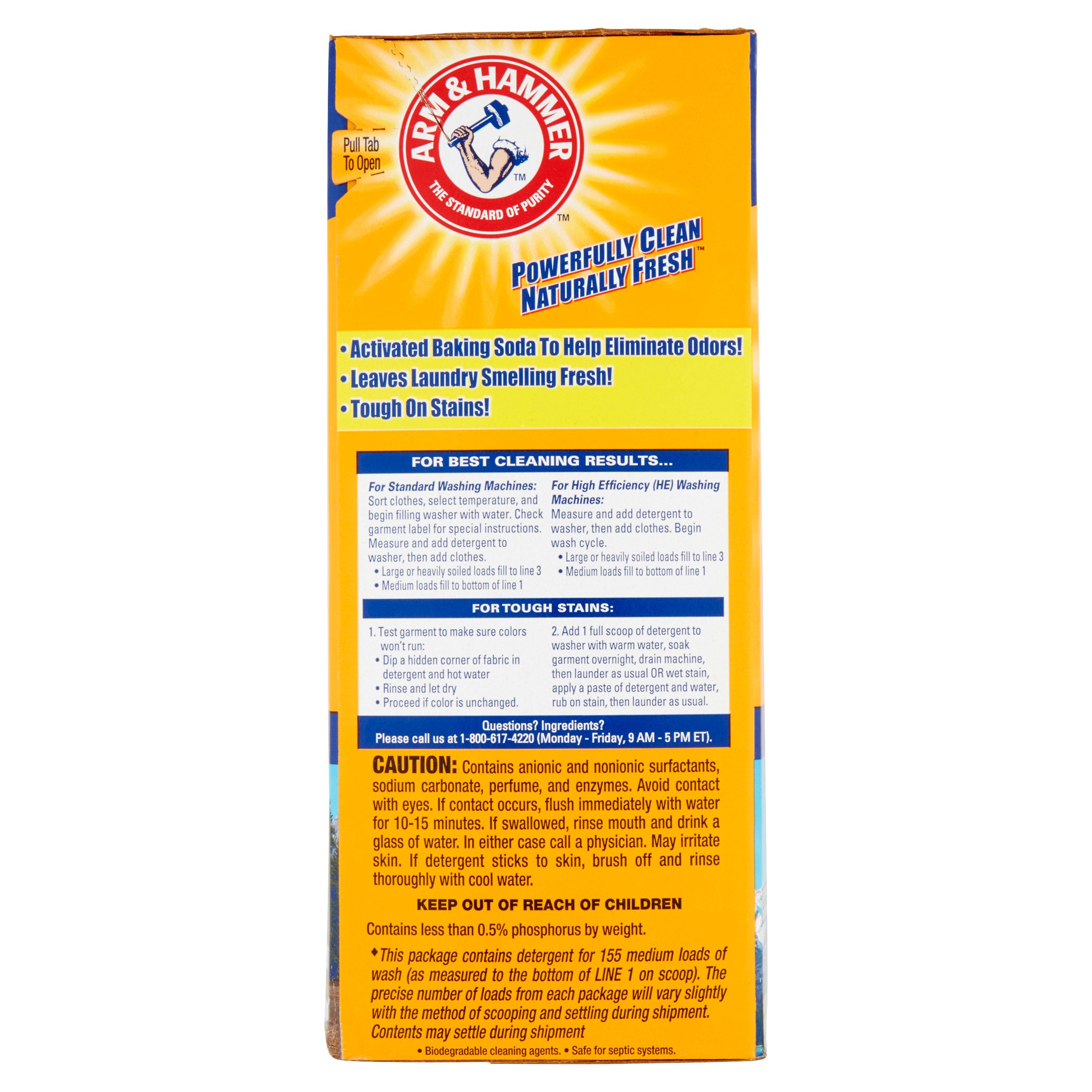 Is arm and hammer powder laundry detergent he - Arm Hammer Powder Laundry Detergent Alpine Clean 9 56 Lbs Walmart Com