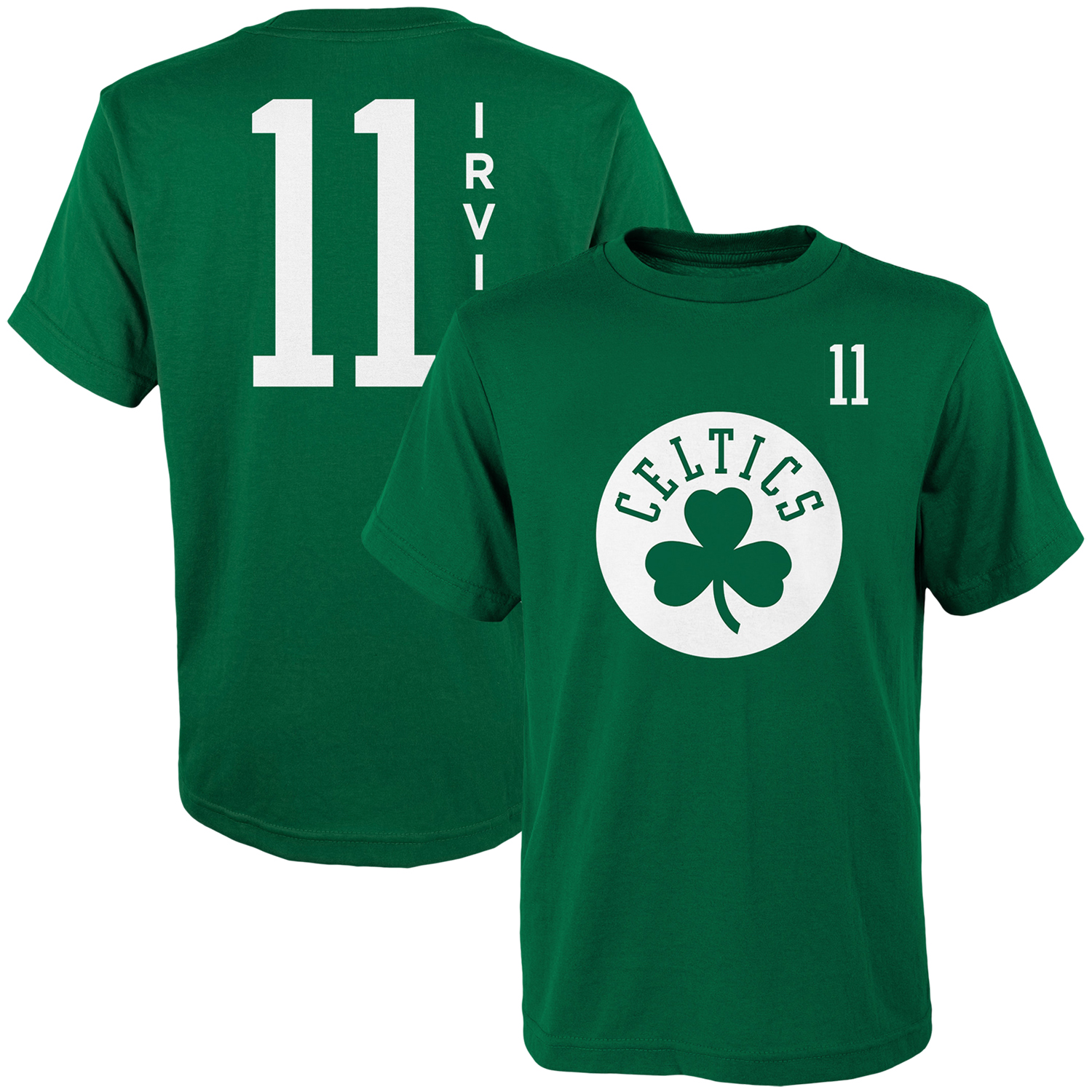 quality design dcba1 5cc1a Youth Kyrie Irving Kelly Green Boston Celtics Name & Number T-Shirt