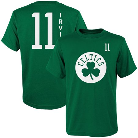 Youth Kyrie Irving Kelly Green Boston Celtics Name & Number T-Shirt