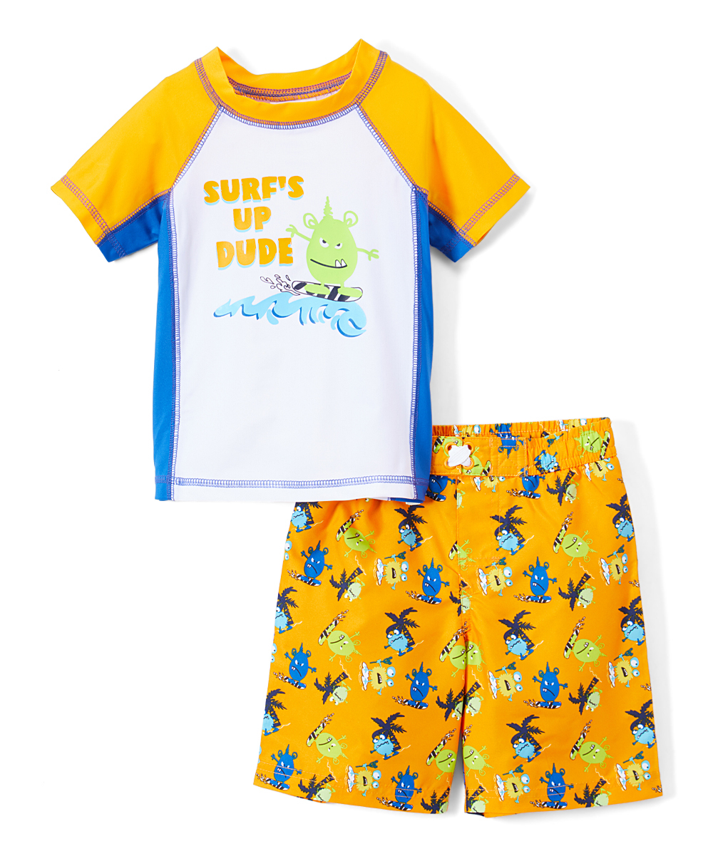 Monster Rashguard and Swim Trunk , 2-Piece Set (Toddler and Infant Boys)