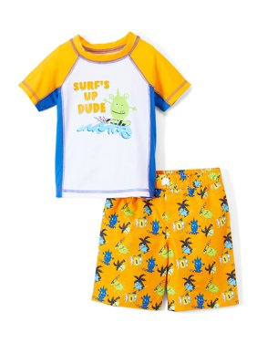 b905d3d9d4c21 Product Image Monster Rashguard and Swim Trunk , 2-Piece Set (Toddler and Infant  Boys)