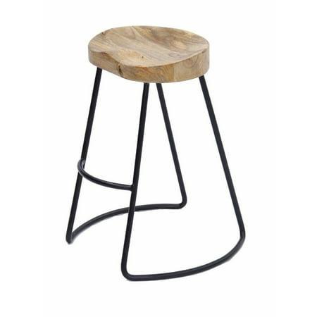 Prime Ghp 300 Lbs Capacity Brown Iron Rosewood Urban Round Armless Saddle Seat Barstool Ibusinesslaw Wood Chair Design Ideas Ibusinesslaworg