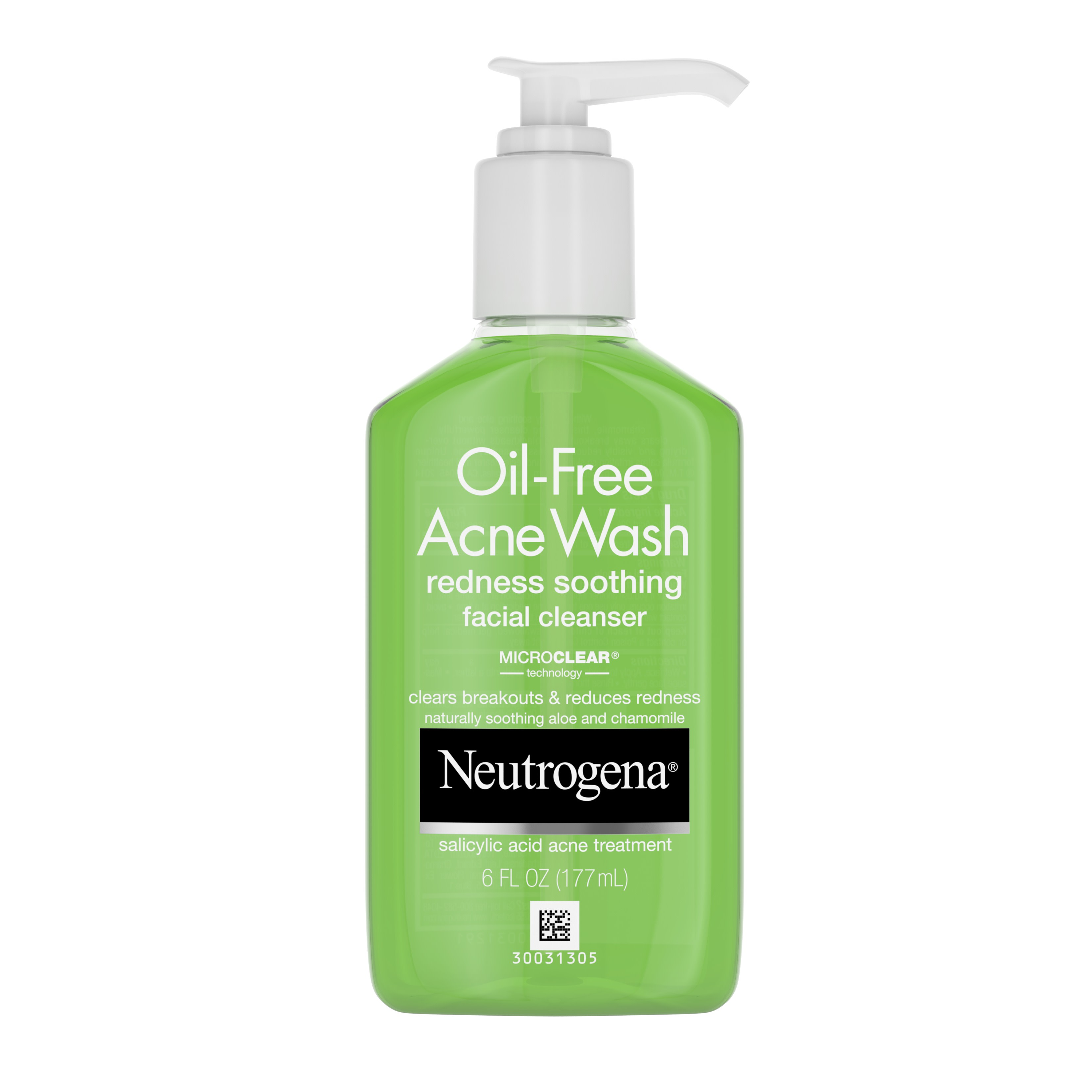 Neutrogena Oil Free Acne Wash Salicylic Acid Facial Cleaner For Oily Skin Oil Free 6 Fl Oz Walmart Com Walmart Com