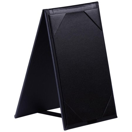 Yescom 10pcs 4x6inches Double-Sided Menu A-Frame Holder Table Tent Restaurant Cafe Black Leatherette Table Tents Holders