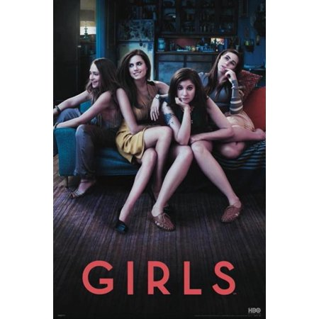 Girls Lena Dunham Hannah Horvath Nyc Comedy Drama Hbo Tv Series Poster   24X36 Inch