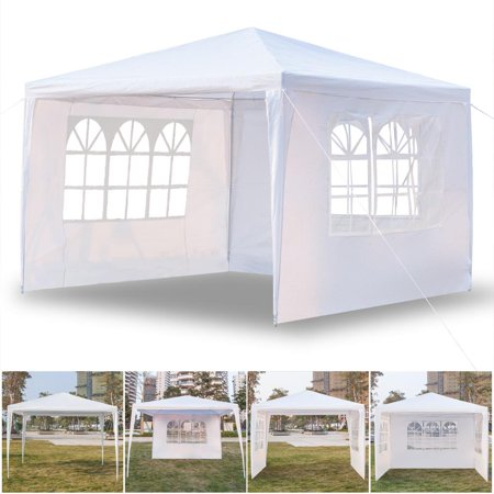 Ktaxon Third Upgrade 10'x10' Canopy Party Wedding Tent Heavy Duty Gazebo Cater Events 3 Sides