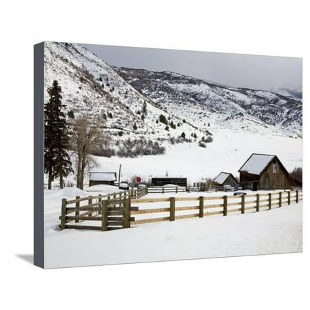 Barn Near Snowmass Village, Aspen Region, Rocky Mountains, Colorado, USA Stretched Canvas Print Wall Art By Richard Cummins