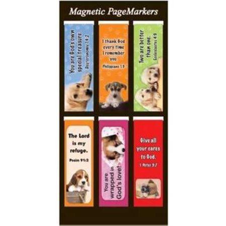 Christian Art Gifts, Inc. 365977 Bookmark - Pagemarker, Magnetic - Dogs & Gods Own - Set Of 6 - Christian Halloween Bookmarks
