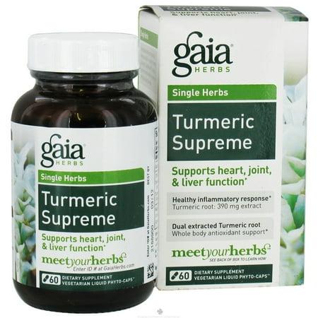 Gaia Herbs   Turmeric Supreme Extra Strength   60 Vegetarian Capsules
