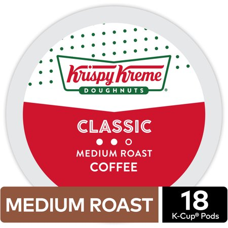 Krispy Kreme Classic Coffee, Keurig K-Cup Pod, Medium Roast, 18ct (Krispy Kreme Halloween Shirt For Sale)