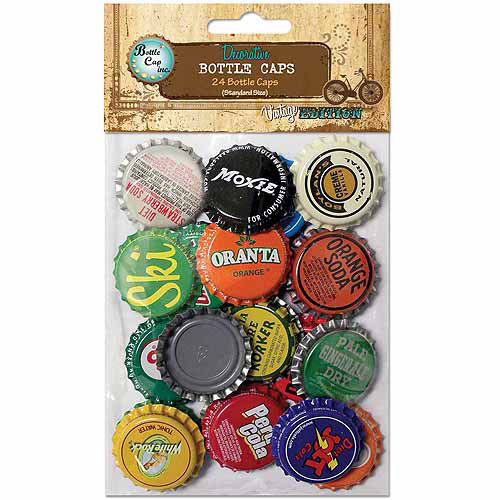 "Bottle Cap Vintage Collection Standard Bottle Caps, 1"", 24/pkg, Vintage Blend"