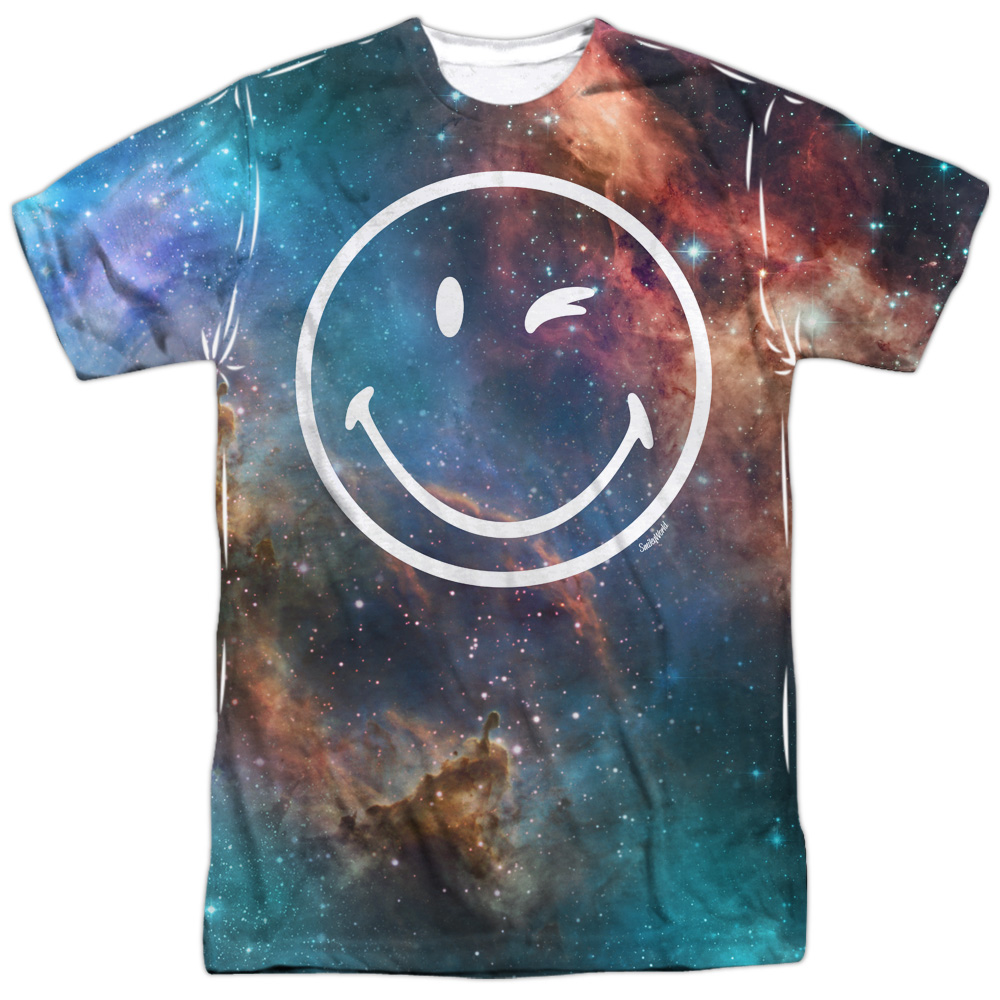 Smiley World Galactic Smiley (Front Back Print) Mens Sublimation Shirt