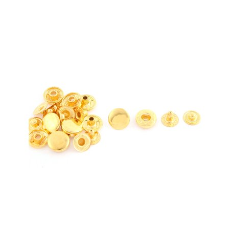 6 Sets Gold Tone Metal Stud Sewing Leather Craft Press Fastener Buttons 12mm ()