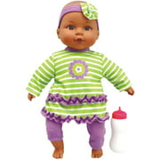 """My Sweet Love 12"""" My Cuddly Baby with Sound, African American, Green Outfit"""