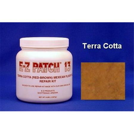 EZ Products EZP-375 3 No. SALTILLO TILE REPAIR TERRA COTTA EACH - ANY QUANITY (Natural Terra Cotta Tile)