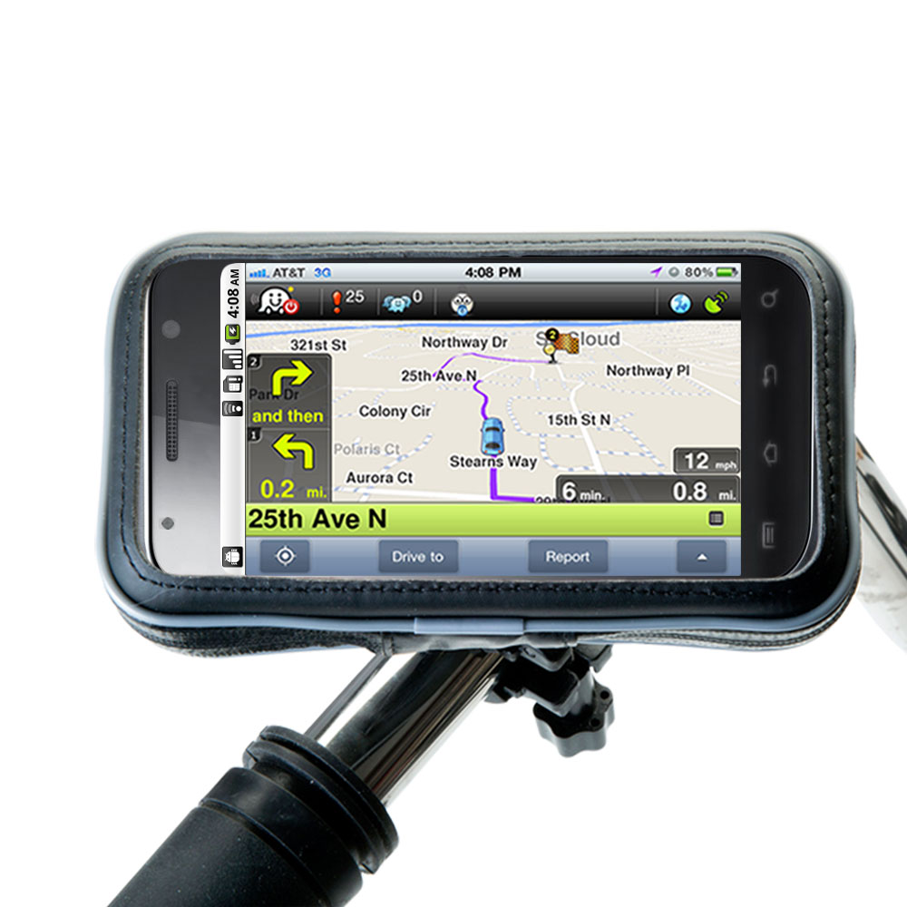 Heavy Duty Weather Resistant Bicycle / Motorcycle Handlebar Mount Holder Designed for the Google Nexus Two