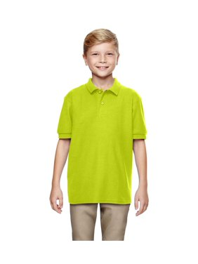 Gildan Big Boys Moisture Wicking Bottom Hem Pique Polo Shirt, Style G72800B