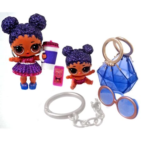 LOL Surprise LIMITED EDITION Purple Queen with Little Sister Figure [No Packaging]