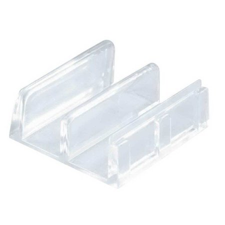 Prime Line M 6059 Sliding Shower Door Bottom Guide 1 2 In Channels Plastic Construction Clear Adhesive Backing Pack Of
