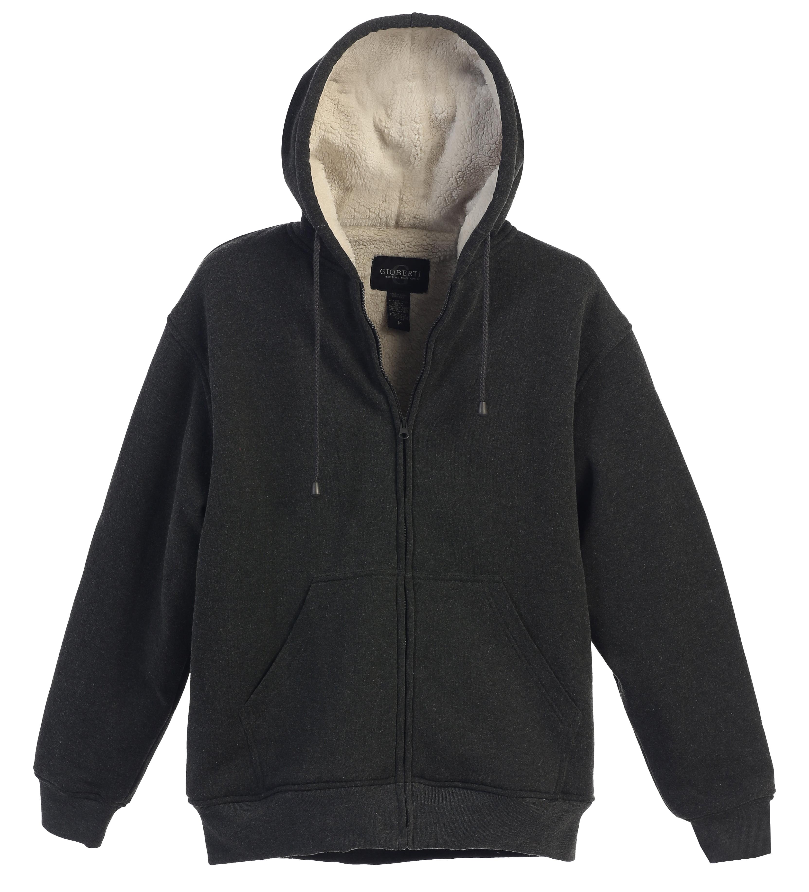 FieerMen Sweatshirt Hoodies Full Sleeve-Front Zip Premium Hood 2 Kangaroo Split Pocket Dark Grey 2XL