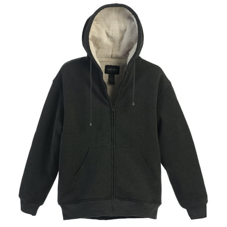 Burton Brown Jacket (Gioberti Mens Sherpa Lined Pull Zip Fleece Hoodie)